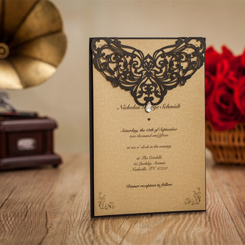 Cheap Card Handmade Buy Quality Invitation Cards Envelopes Directly From China Folders Suppliers 50 Wedding With