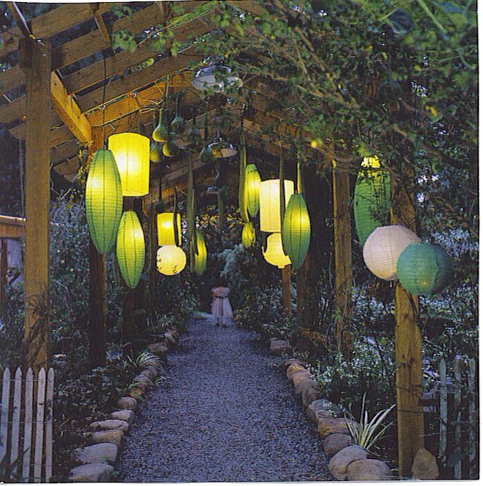 Vegetable Garden Garden Garden Lanterns Evening
