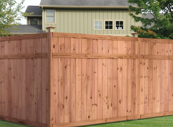 Euro Top Privacy Wood Fencing Wooden Fence Panels
