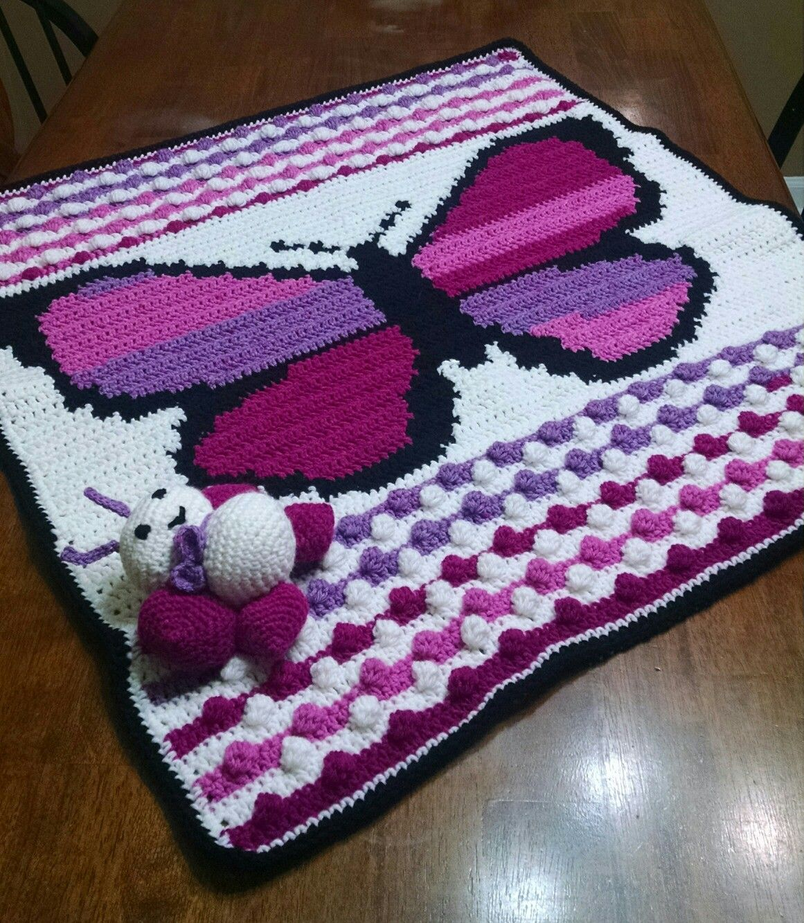 Crochet Butterfly Baby Blanket. Graph by Repeat Crafter Me | Crochet ...