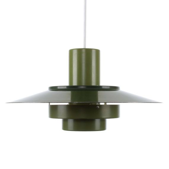 Falcon green pendant by andreas hansen 1969 fog morup falcon green pendant by andreas hansen 1969 fog morup iconic two toned green hanging lamp mozeypictures Images
