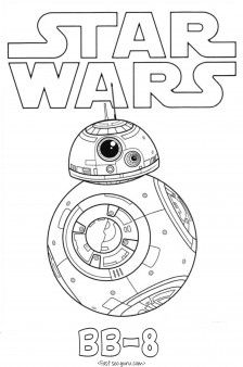 Print out Star Wars The Force Awakens BB 8 coloring pages for kids