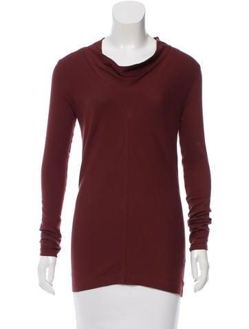 #The RealReal - #Brunello Cucinelli Brunello Cucinelli Cowl Neck Long Sleeve Top w/ Tags - AdoreWe.com