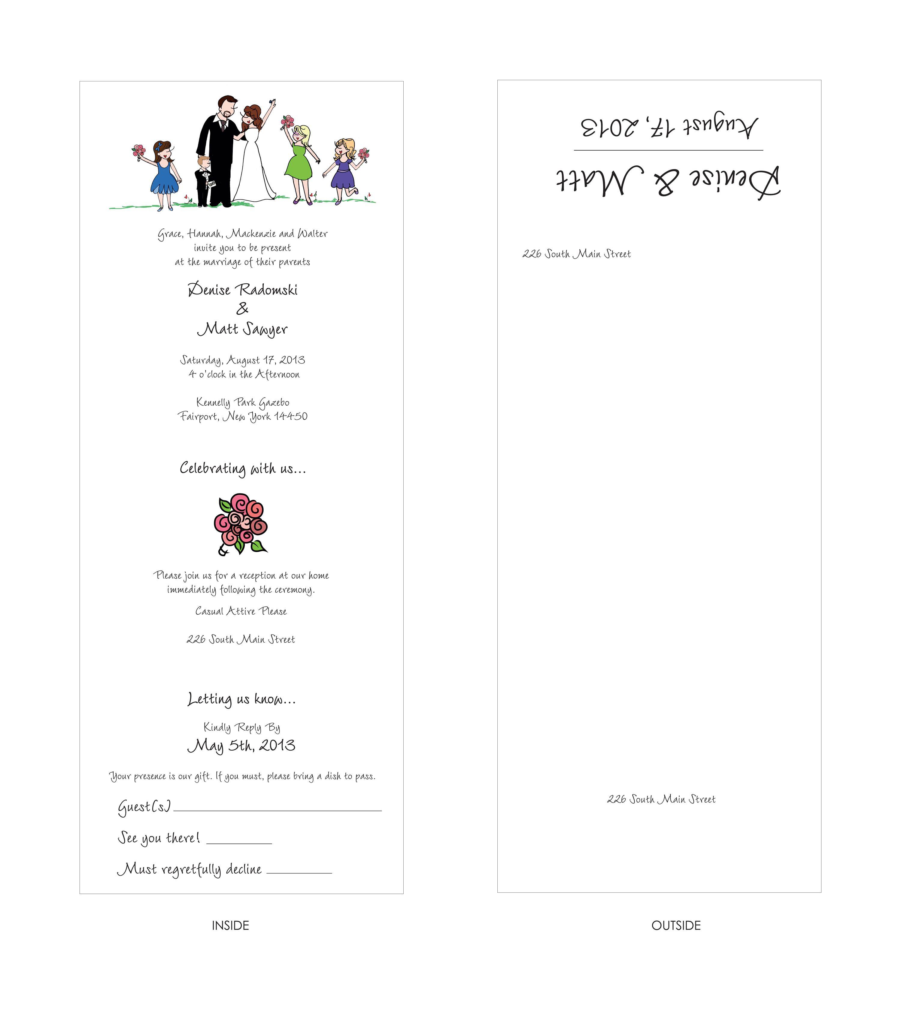 Seal Send Custom philoSophie\'s Wedding Invitation. Fun and unique ...