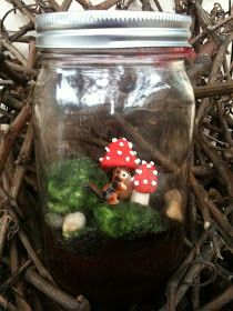 *Rook No. 17: recipes, crafts & whimsies for spreading joy*: Terrarium Cakes -- Whimsical Woodland Scenes in a Jar (That You Can Eat!)
