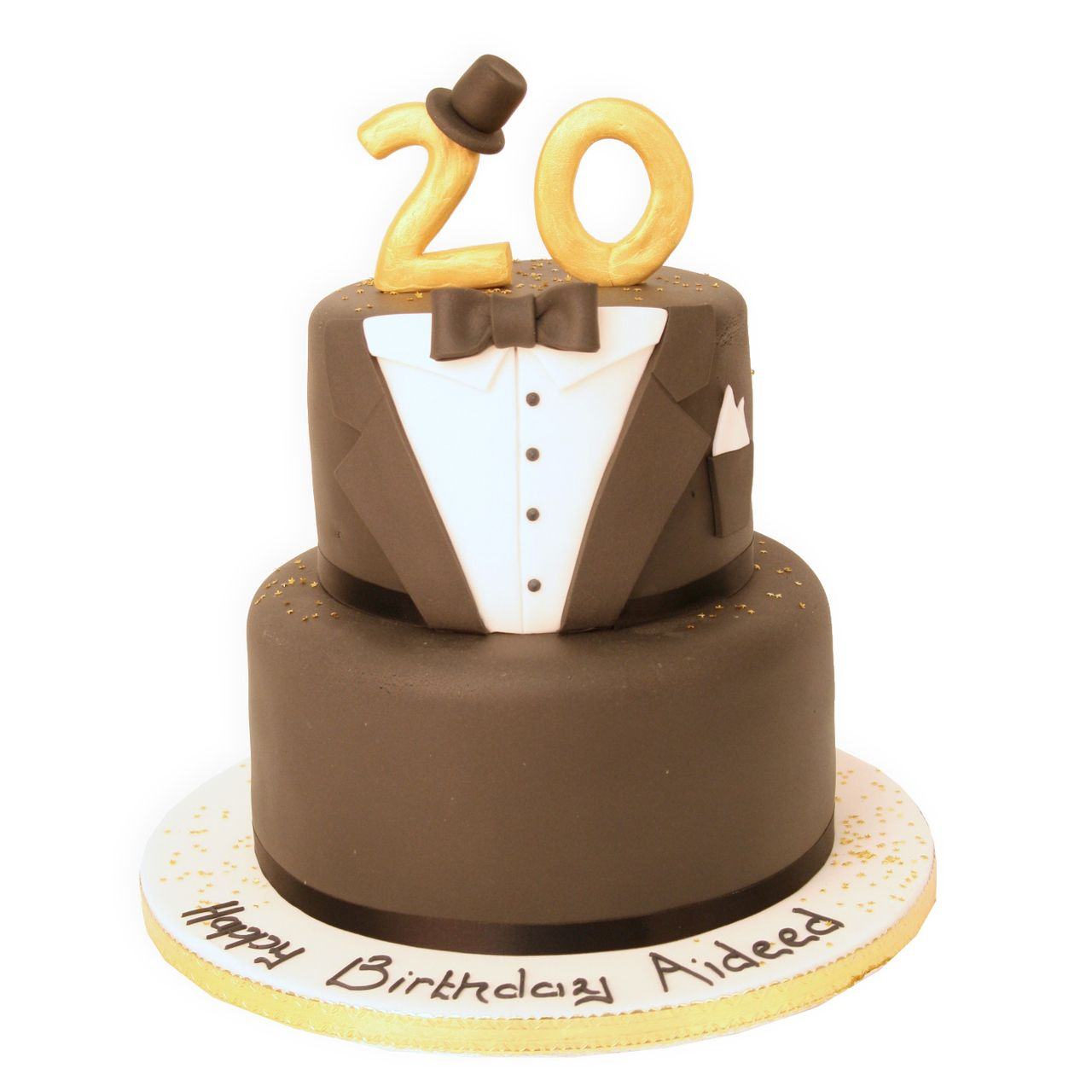 Black Tie Special Age Cake freshly made, delicious and