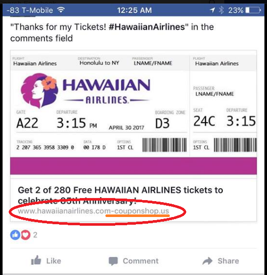 Hawaiian Airlines Porn - Pin on Scam Alerts