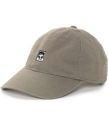 8b5750d3a70ad Obey Half Face Icon Olive Strapback Hat
