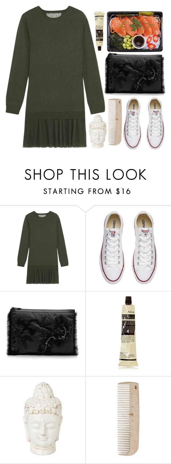 """""""And with those wings, I was going to fly"""" by natjulieta ❤ liked on Polyvore featuring RED Valentino, Converse, Kenzo, Aesop and HAY"""
