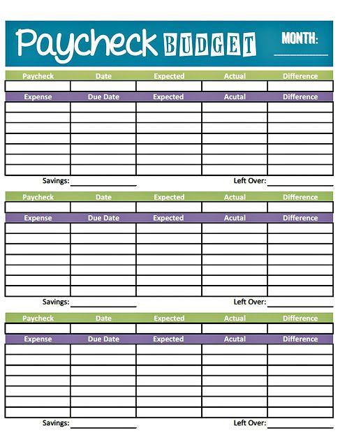 Livin\u0027 Paycheck to Paycheck - Free Printable Budget Form Budget Binder