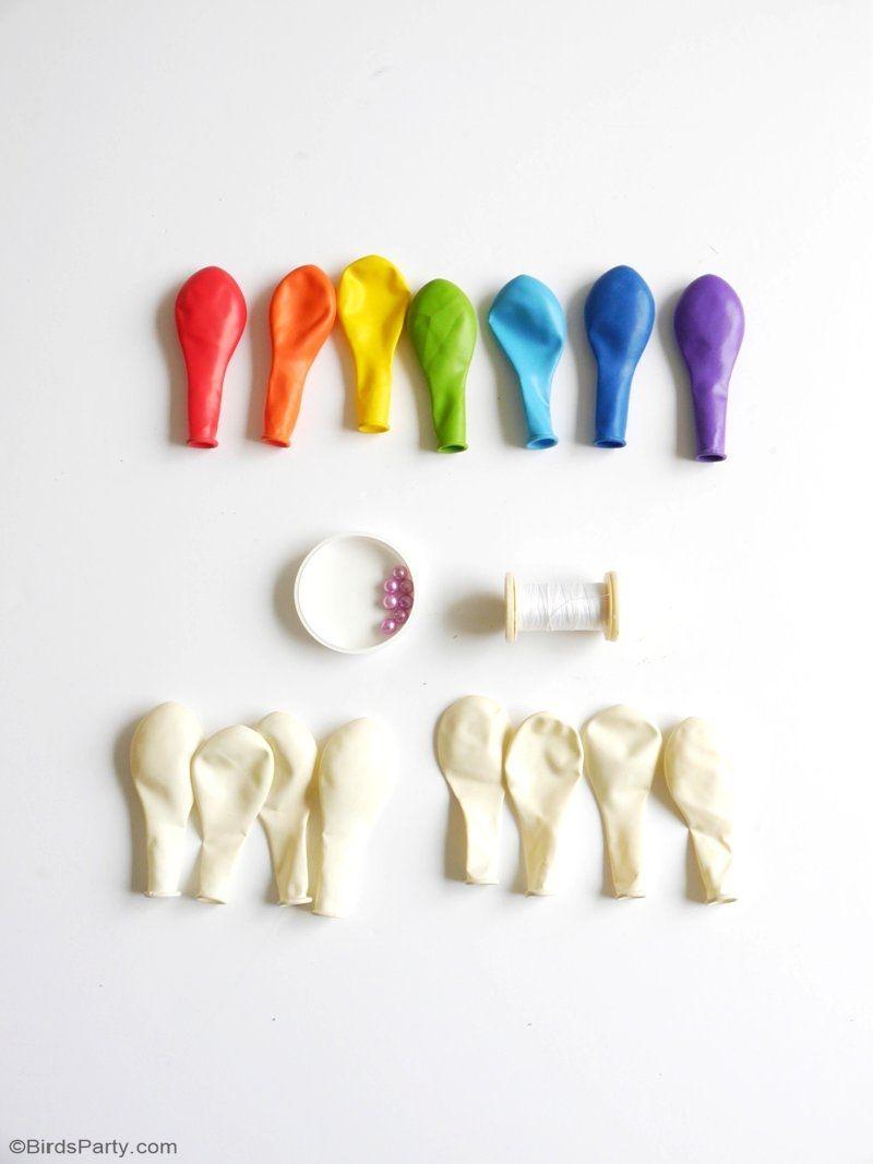 DIY Easy Rainbow Balloon Arch   Rainbow balloon arch, Colorful ...