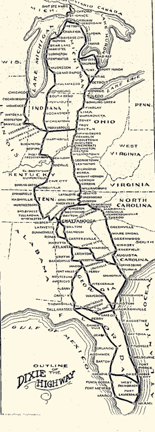 Highway Map Of Florida.Dixie Highway Map Dixie Highway Wikipedia The Free Encyclopedia