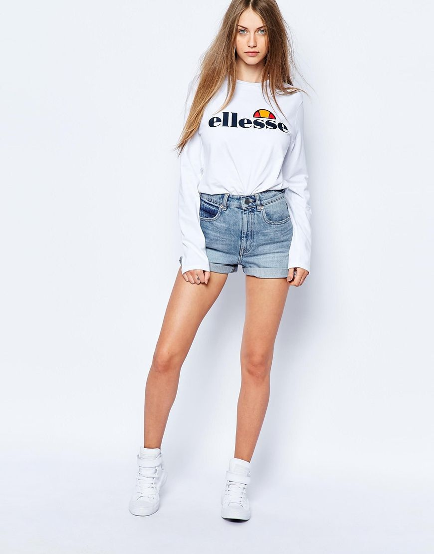 Ellesse Long Sleeve Top With Front Logo at asos.com