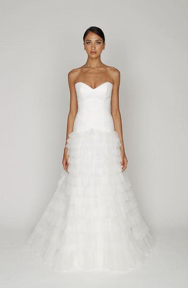 Monique Lhuillier BL1212 Size 8 Wedding Dress | Monique lhuillier ...
