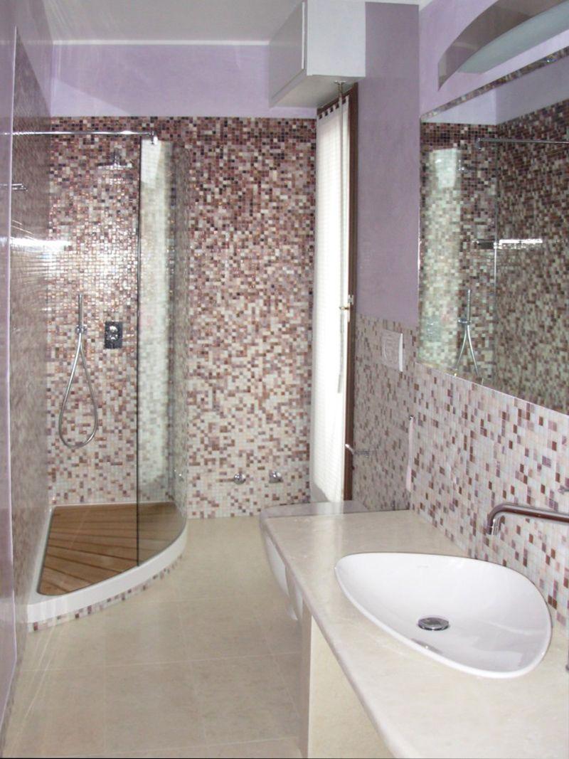 Progetto di ristrutturazione bagno con mosaico Bisazza | Progetti ...