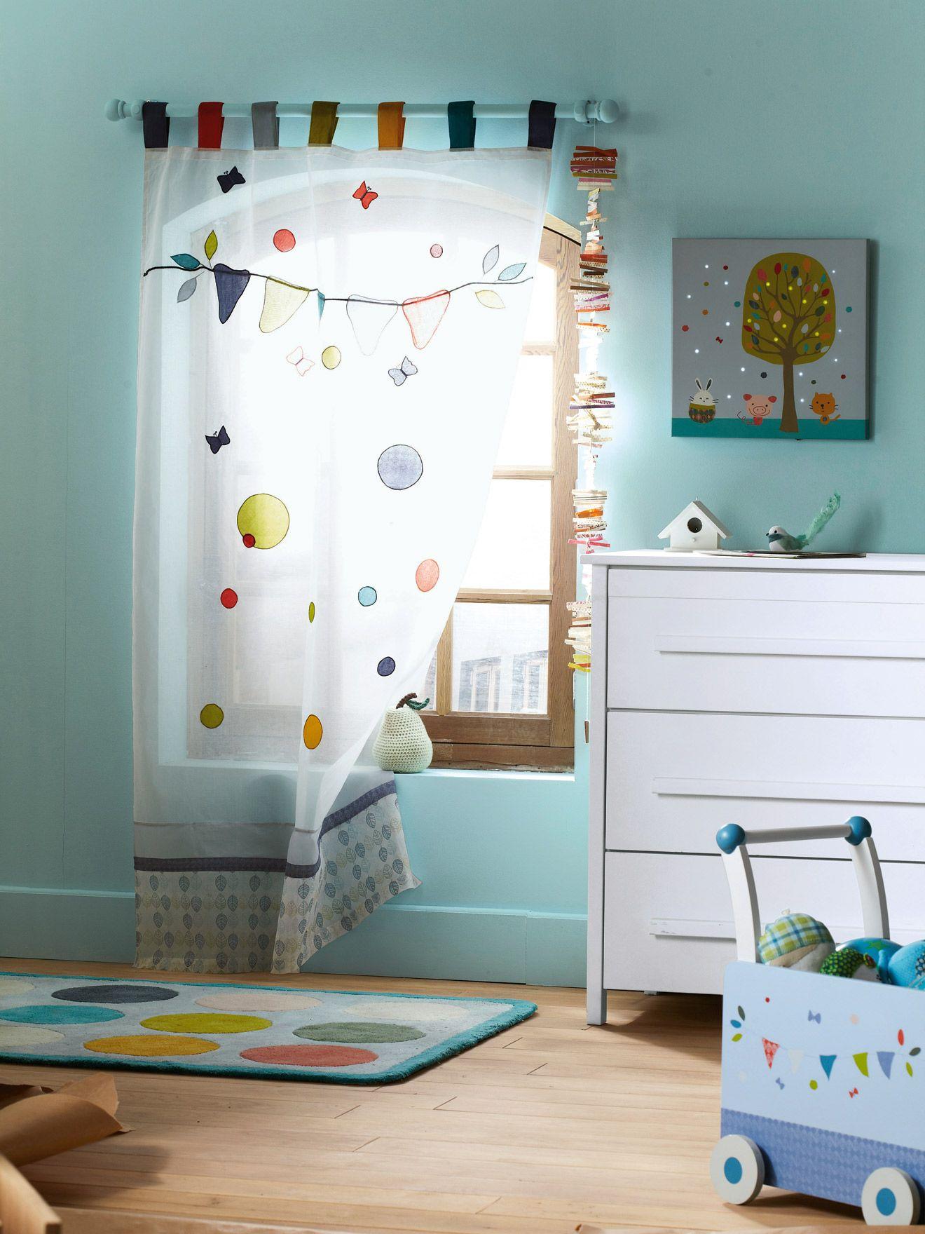 Rideau bébé brodé thème happy zamis - www.vertbaudet.fr ...