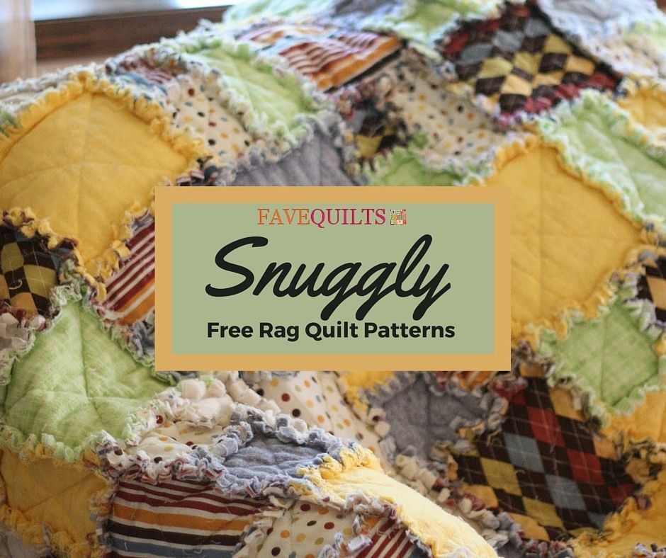 60 Snuggly Free Rag Quilt Patterns Rag Quilt Patterns Pinterest Inspiration Free Rag Quilt Patterns