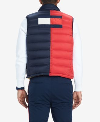 59f048fe Tommy Hilfiger Men's Valero Reversible Colorblocked Down Puffer Vest,  Created for Macy's - Blue M