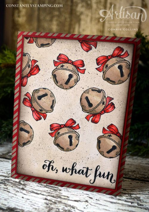 Christmas Magic & Oh, What Fun stamp sets. Card by Stampin' Up! Artisan Design Team member, Connie Collins for Global Design Project.
