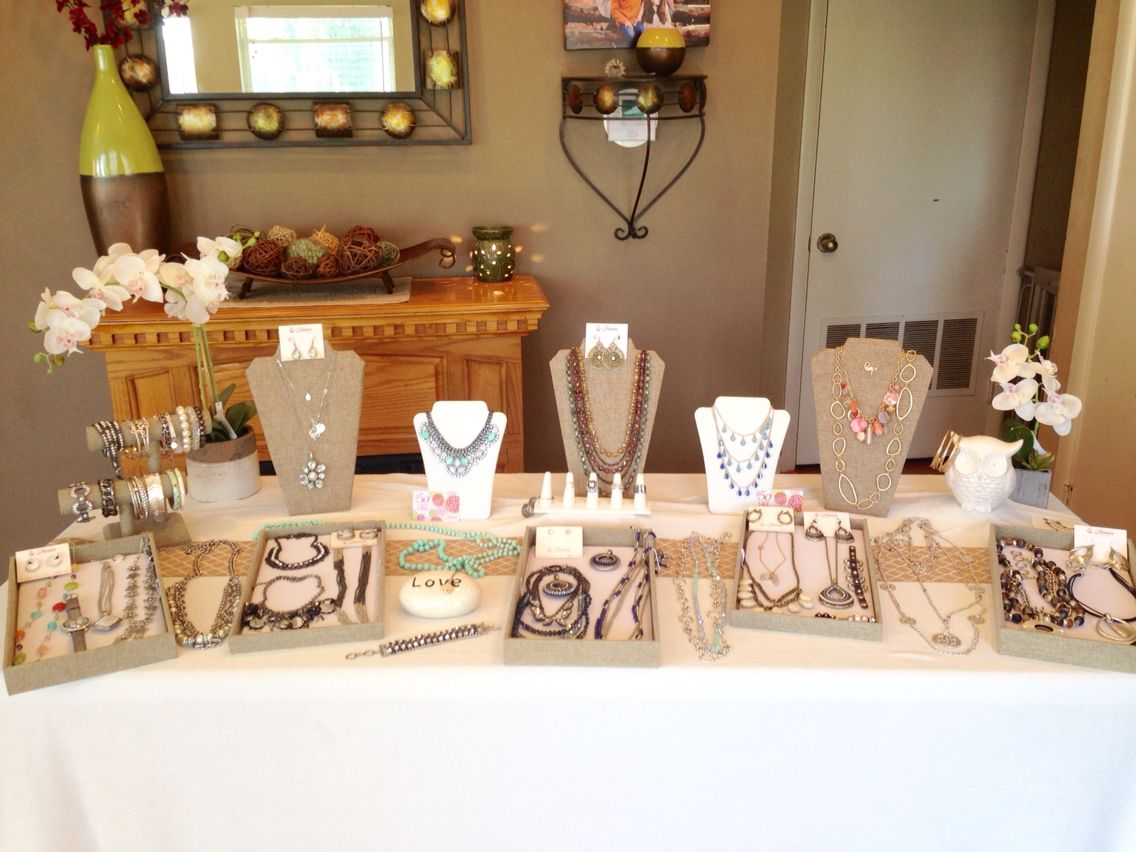 Spring/Summer Premier Designs Jewelry Display Table.  Hannahday.mypremierdesigns.com