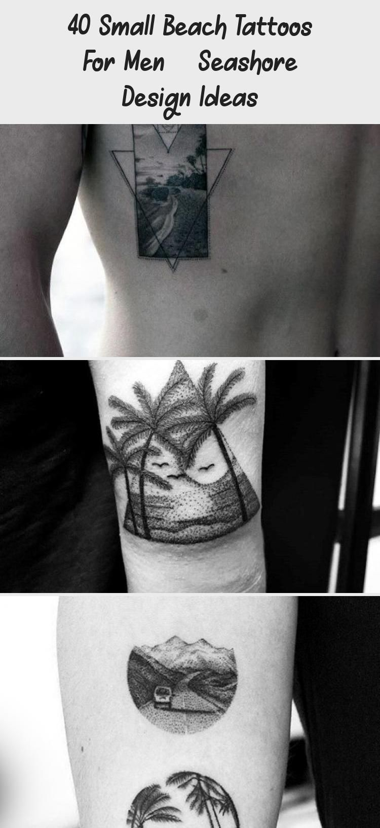 Photo of 40 Small Beach Tattoos For Men – Seashore Design Ideas – Best Tattoos