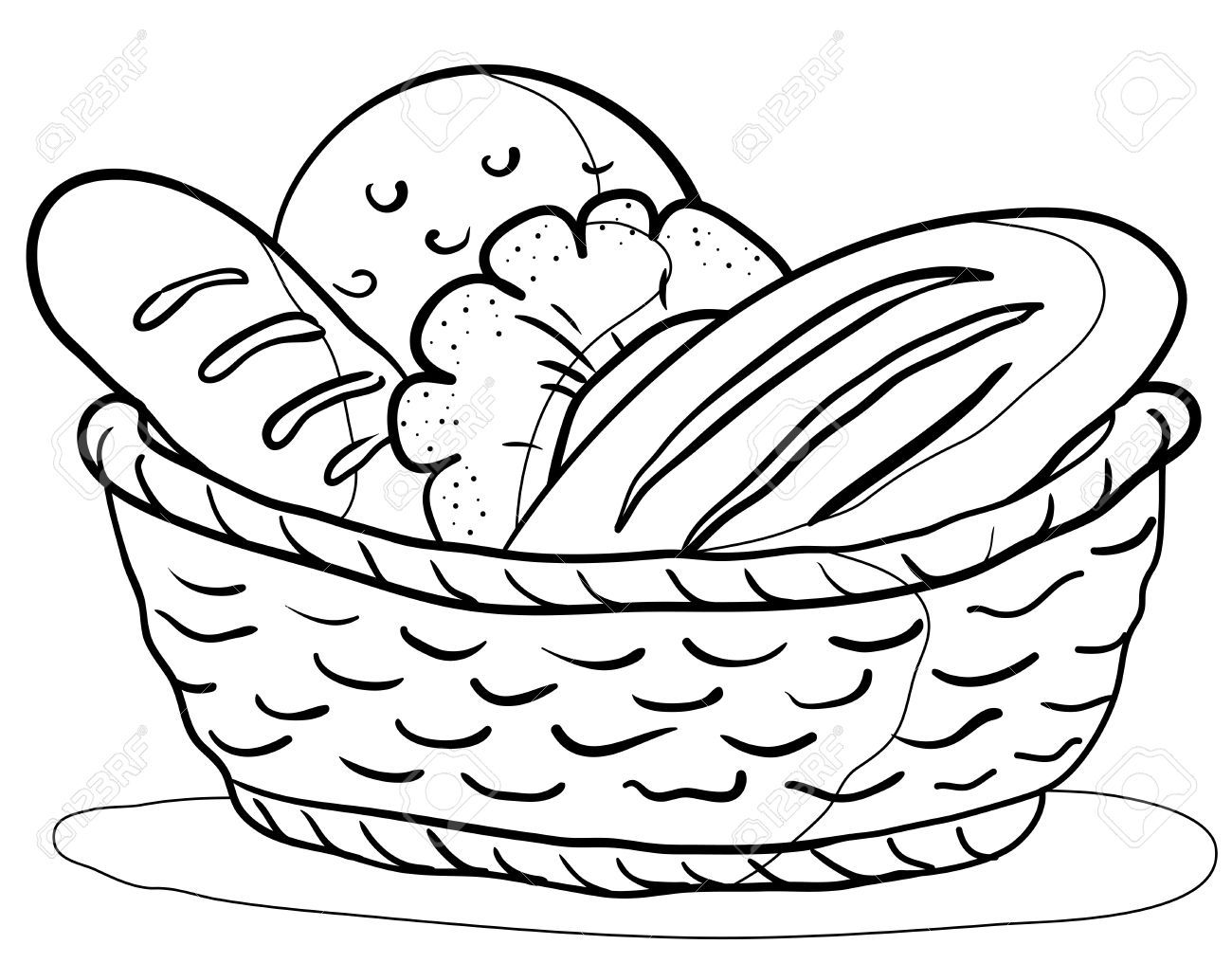 Bread Clipart Tasty 72 Food Coloring Pages Clip Art Coloring Pages For Kids