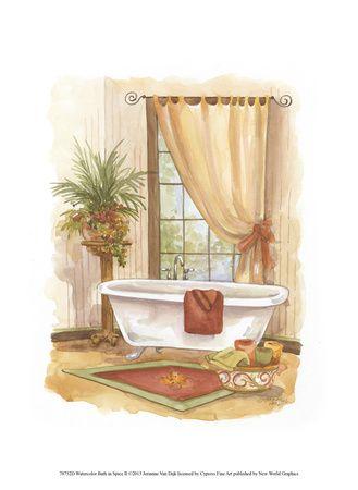 Vasche da bagno arte contemporanea poster con cornice su immagini vintage - Vasche da bagno retro ...