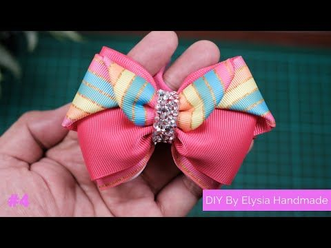 HOW TO MAKE HAIR BOWS / HAIR BAND FOR BABY GIRLS | EASY HAIR BOWS TUTORIAL #4 by Elysia Handmade