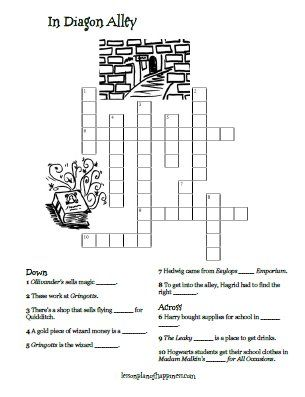 Massif image pertaining to harry potter crossword puzzle printable