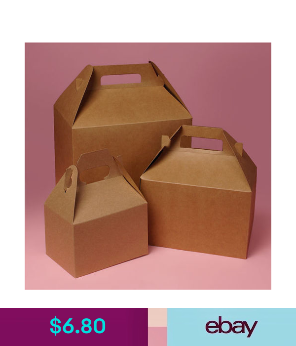 Gift Baskets Supplies Gable Boxes 4 X 2 1 2 X 2 1 2 Kraft 10 Boxes Gift Party Craft Container Boxes Ebay Home Garden
