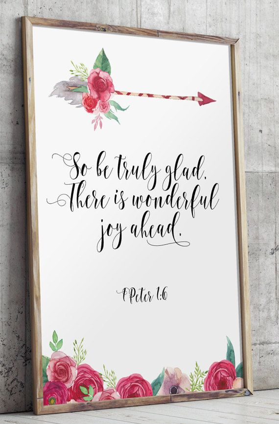 Wedding Quotes Bible Verse 1 Peter Scripture Print Art Be Truly Glad Love Quote Printable