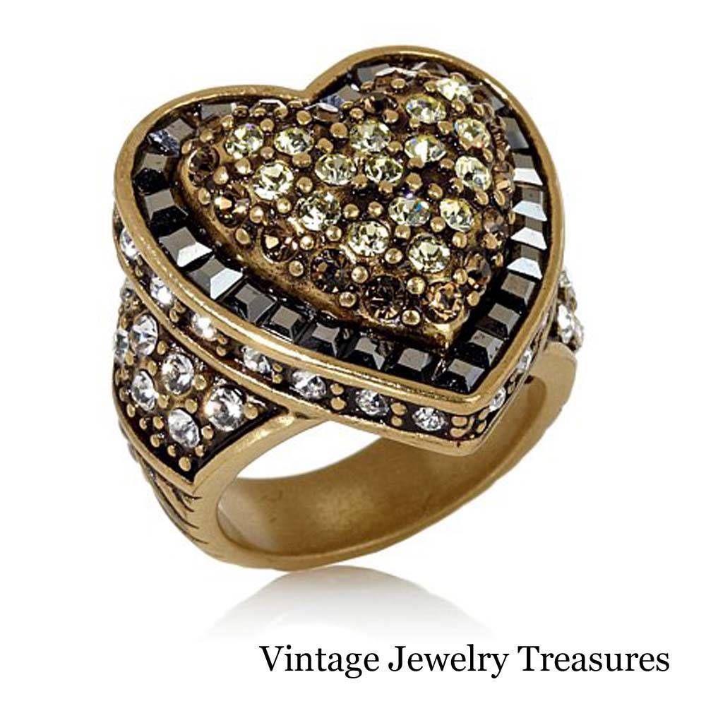 hsn wedding rings Heidi Daus Heartbreaker Crystal Accented Ring Size 8 New HSN