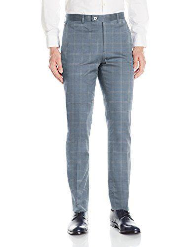 006ca849 Paisley & Gray Men's Flat Front Slim Fit Hemmed Suit Sepa ...