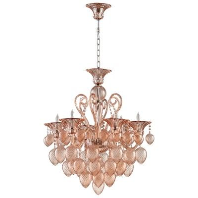 Bella Vetro Chandelier in Blush - SelectHomeAccents.com - Ships Free to North American Destinations