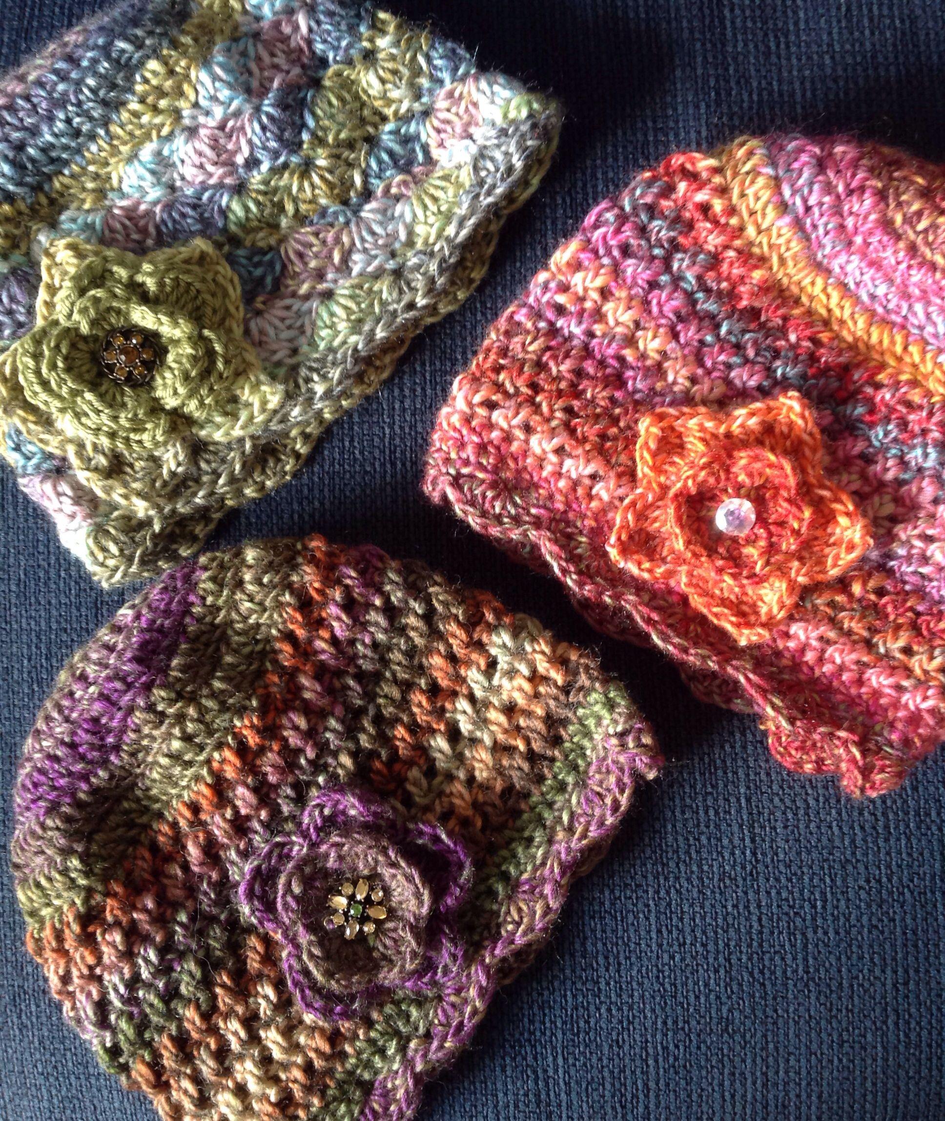 Colorful crochet hats