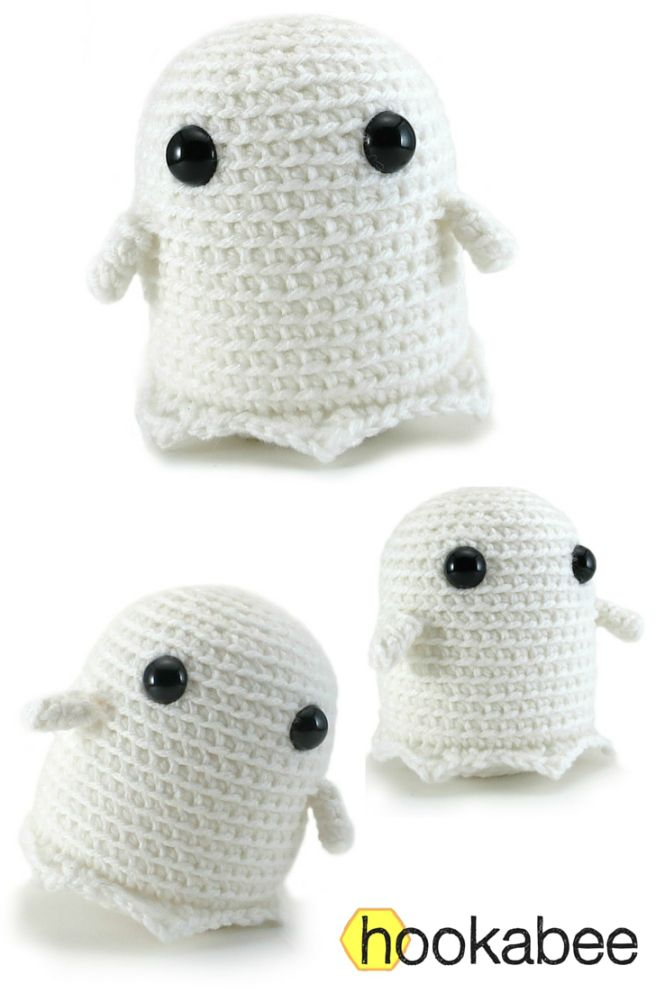 Grimm the Ghost Amigurumi is about 4.5 inches tall (11.5 cm) - Free ...