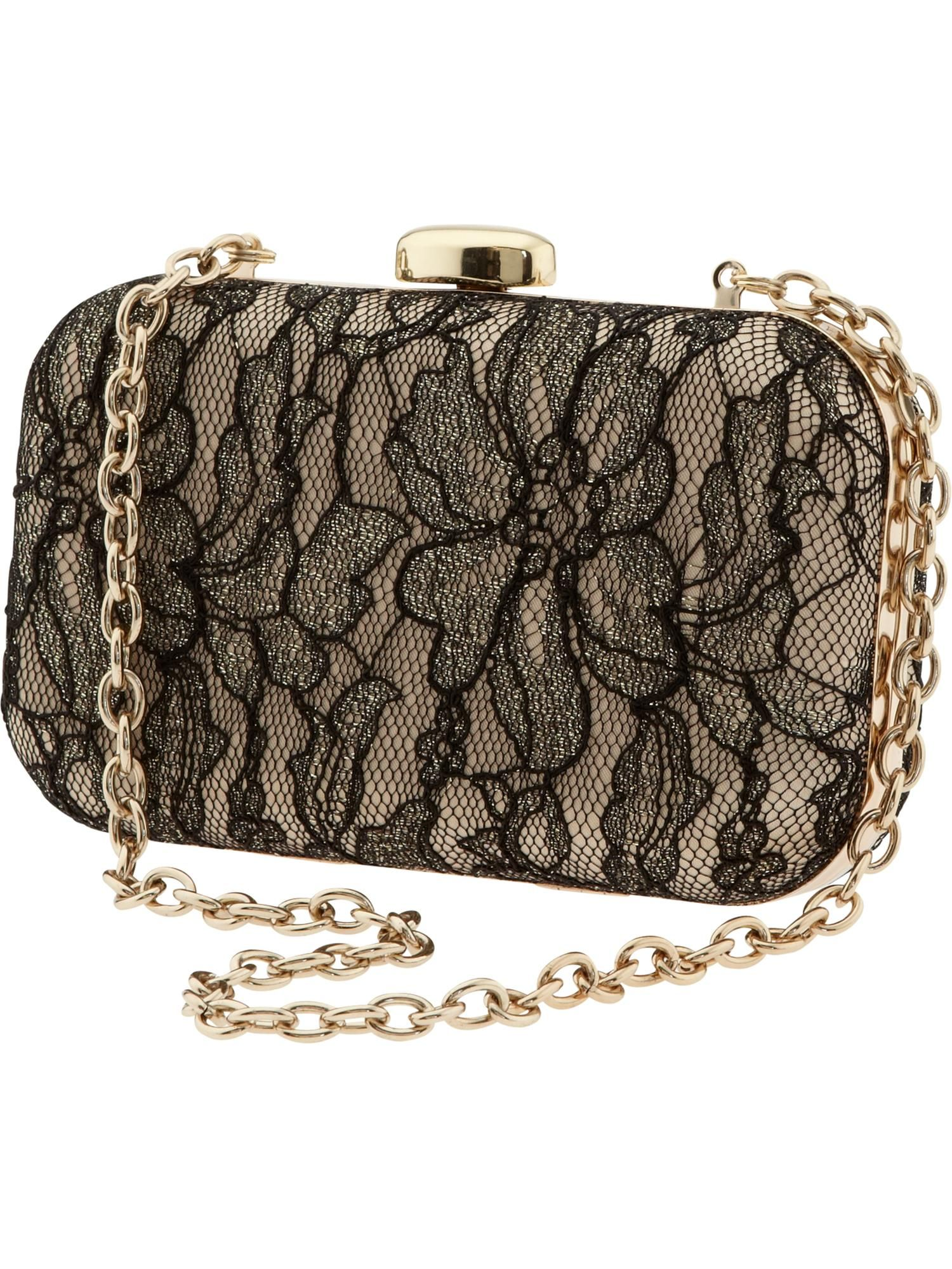 #BRAnnaK #BananaRepublic | Scarlett box clutch. I adore the lace!