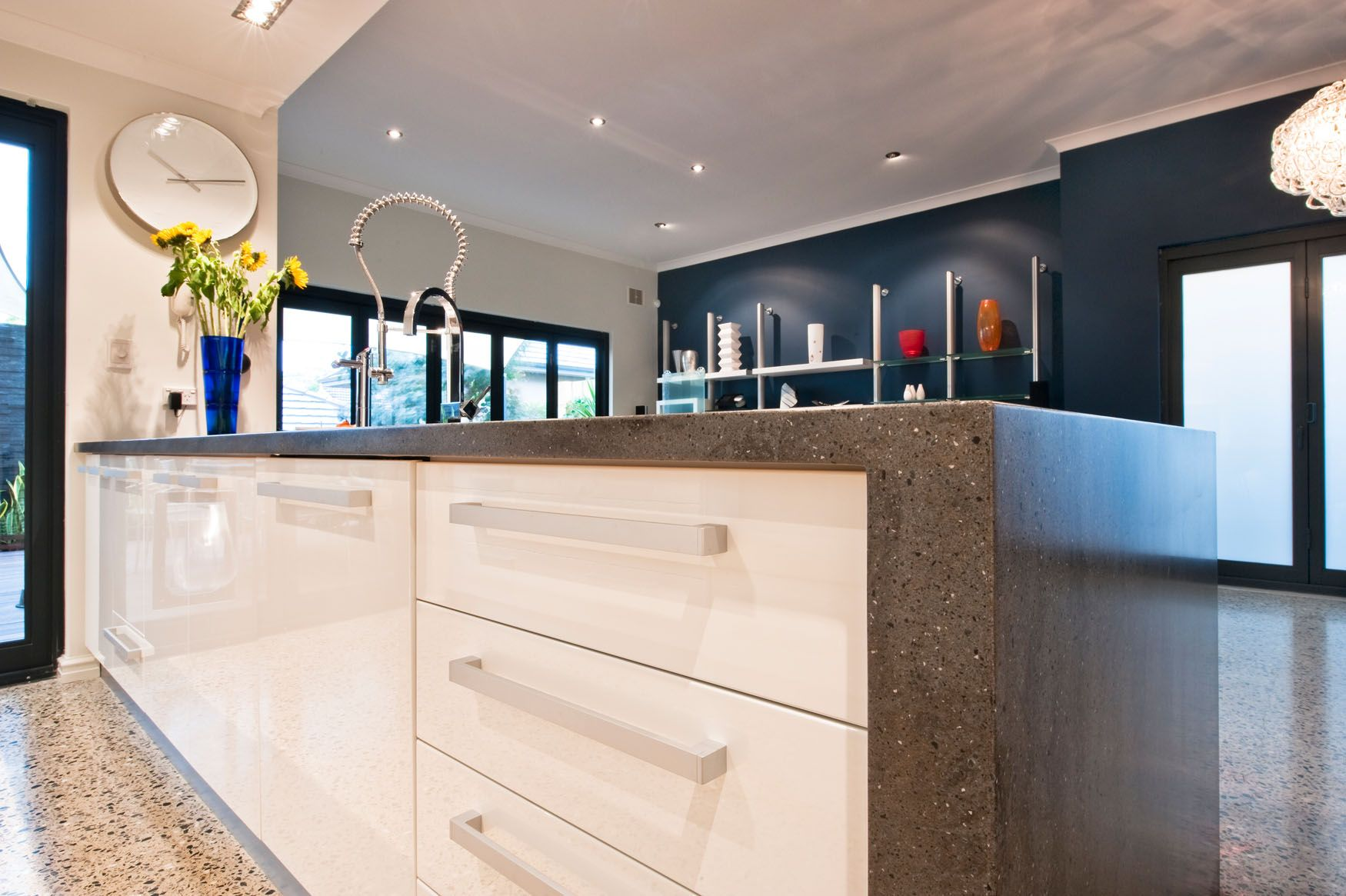Kitchen Benchtop Beautiful Lava Rock Corianar Kitchen Benchtop With Integrated Sink