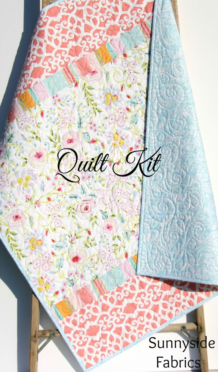Baby quilt kit diy do it yourself project meadow dena designs baby quilt kit diy do it yourself project meadow dena solutioingenieria Gallery