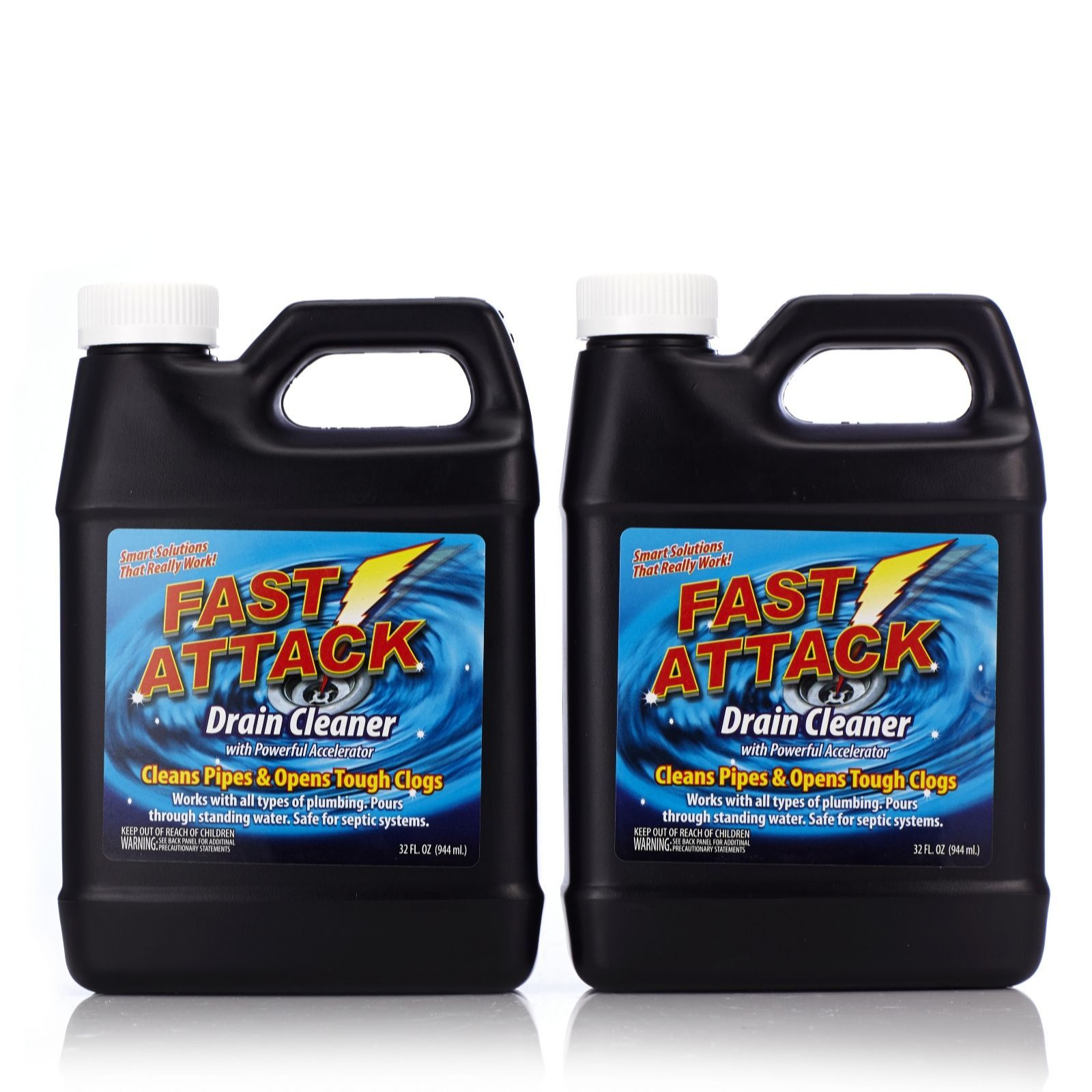 Fast Attack 2 Piece Drain Cleaning Kit Qvc Uk Cleaning Kit Chemical Free Cleaning Drain Cleaner