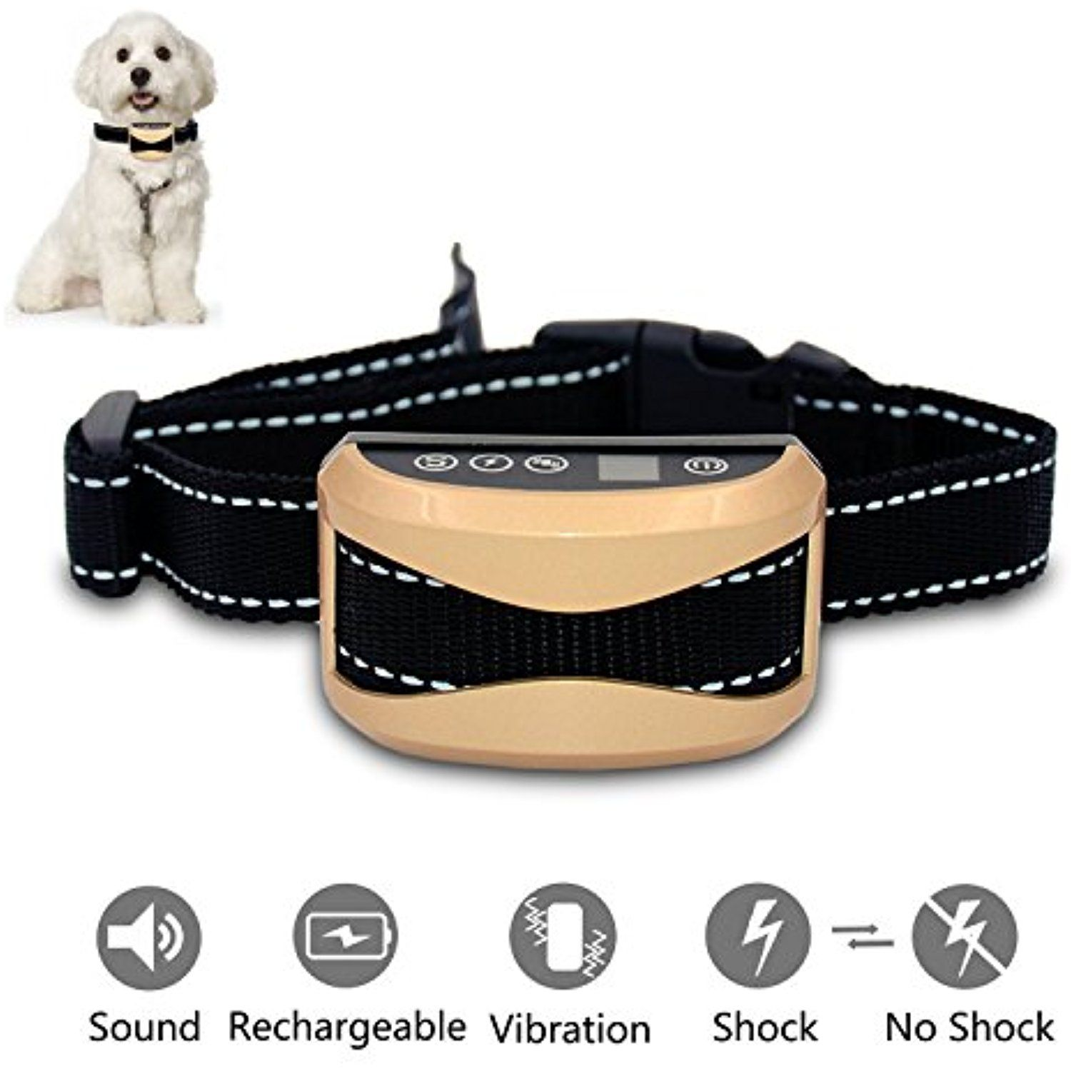 I Sentient Bark Collar Sensitivity Rechargeable Dog Barking