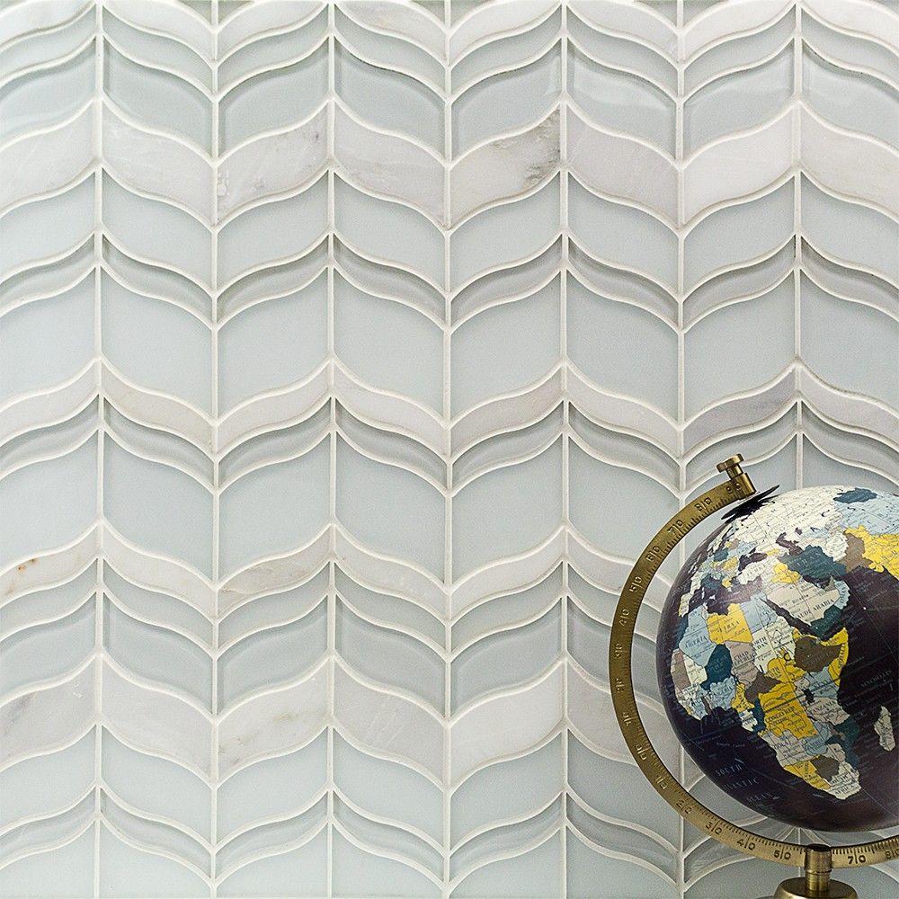 Chantilly Lace Marble Glass Tile Casas Decorar Banos Pisos