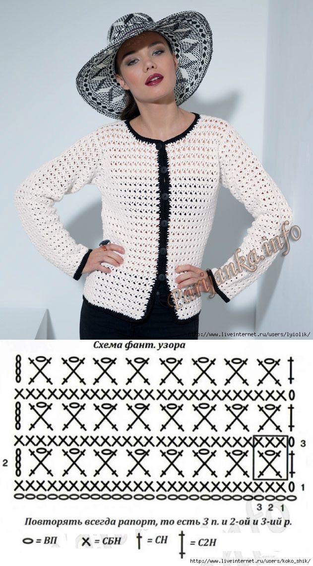 La chaqueta por el gancho en el estilo Chanel del sitio \'Парижанка ...