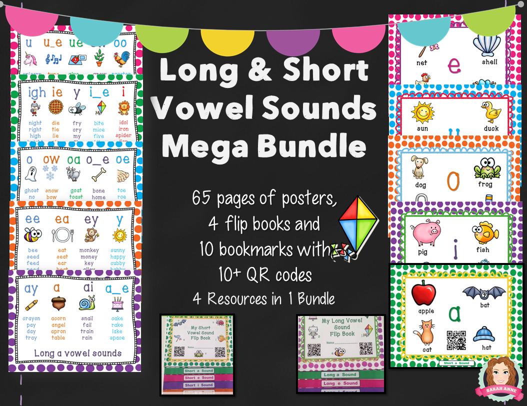 Long And Short Vowel Sound Mega Packet