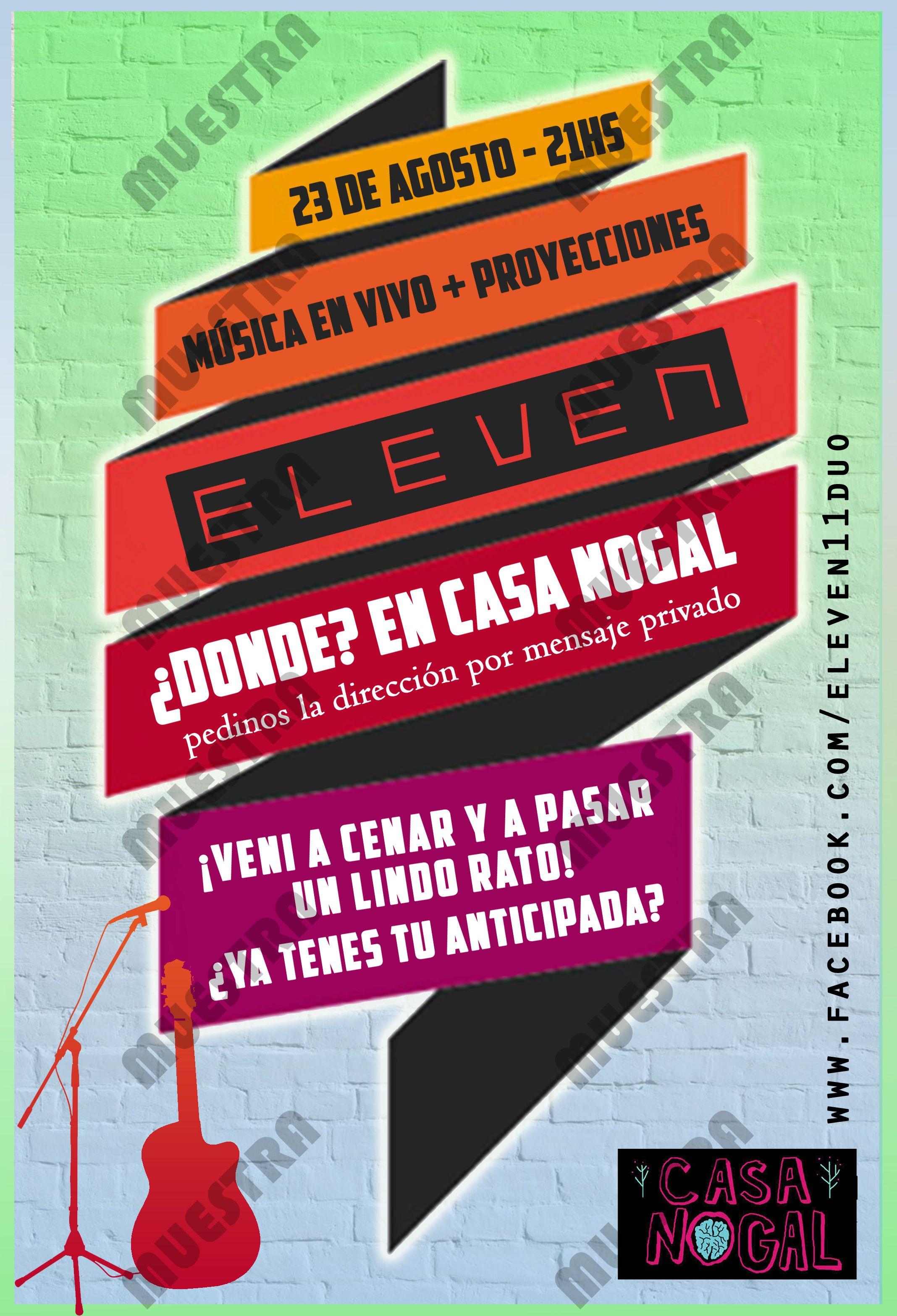 Flyer Promocional Para Show En Vivo Marca De Agua Agregada Música En Vivo Marca De Agua Mensajes