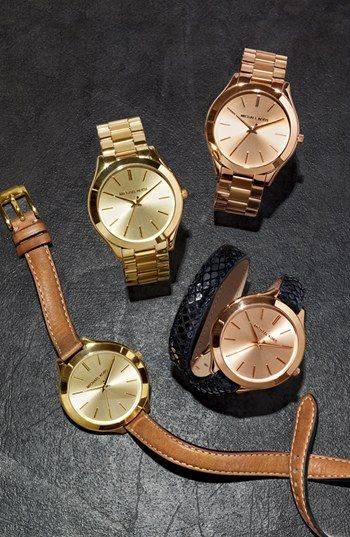 Michael Kors Slim Runway Bracelet Watch 42mm Nordstrom