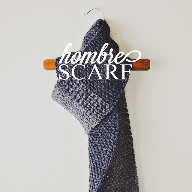 goodknits free crochet pattern: the hombre scarf! classic scarf for ...