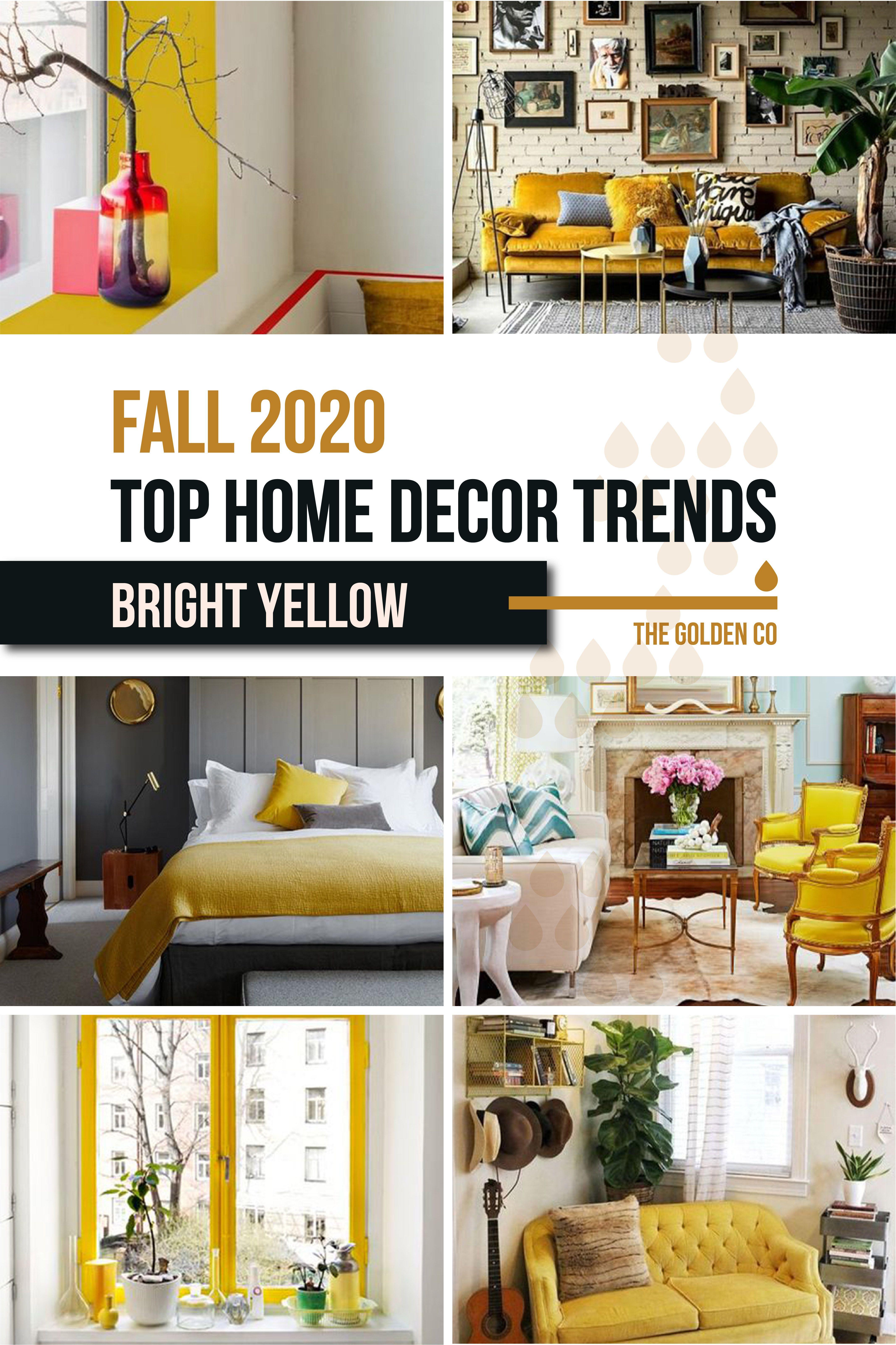 Home Decor Inspo for Fall 32 Bright Yellow   Trending decor ...