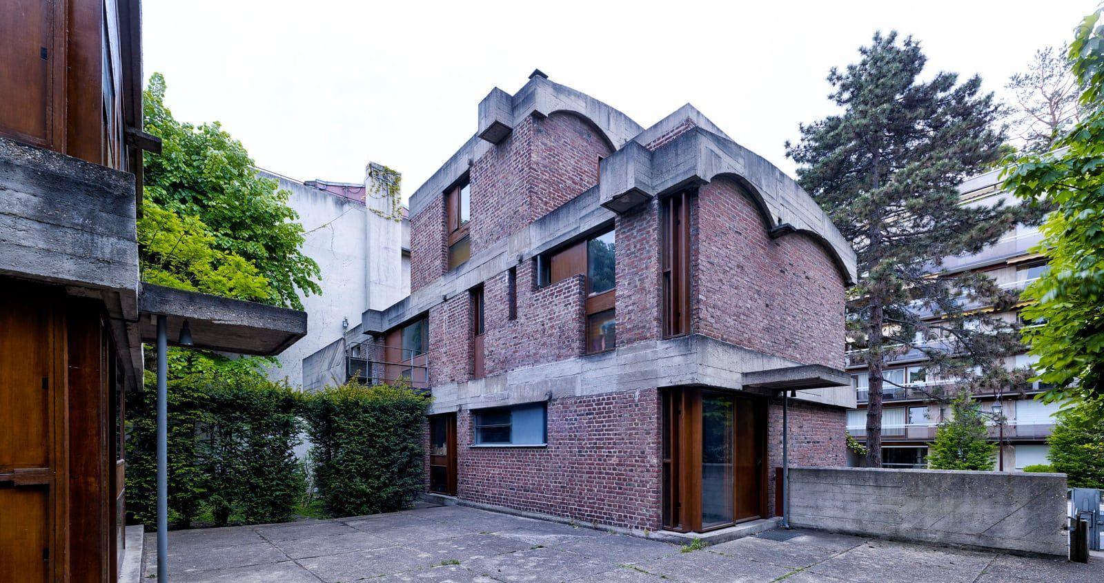 Le Corbusier Cemal Emden Maisons Jaoul Le Corbusier Facade Architecture Architecture