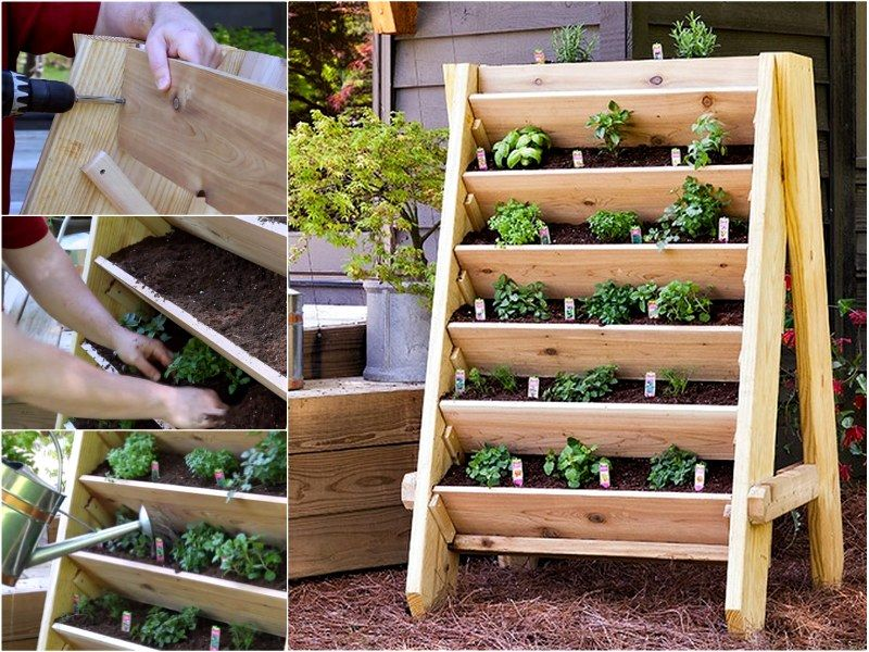 Perfect Wonderful DIY Vertical Pallet Garden